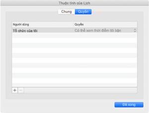 Cửa sổ Thuộc tính lịch nếu bạn có tính năng đồng bộ REST.