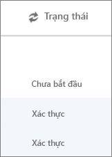 Trang di chuyển Dữ liệu hiển thị trạng thái di chuyển cho mỗi người dùng