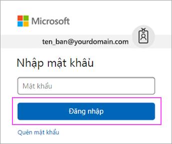 Nhập mật khẩu Outlook.com của bạn