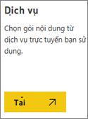 Ảnh chụp màn hình: Chọn dịch vụ kết nối với Microsoft AppSource