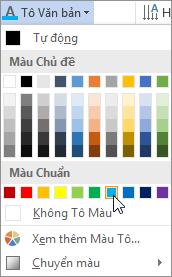 Chọn màu tô văn bản