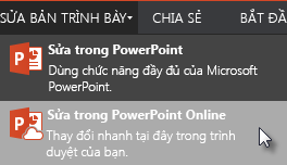 Mở bằng PowerPoint Online