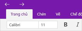 Hiển thị mũi tên các trang đã truy nhập trên tab Trang đầu.
