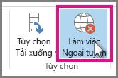 Nút Làm việc Ngoại tuyến trong Outlook 2013