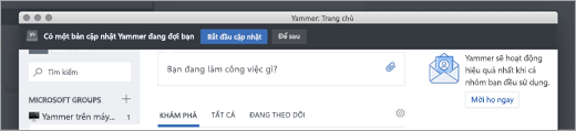 Các bản cập nhật ứng dụng Yammer