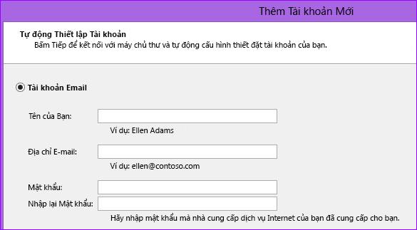 Thêm tên và địa chỉ email trong Outlook 2010