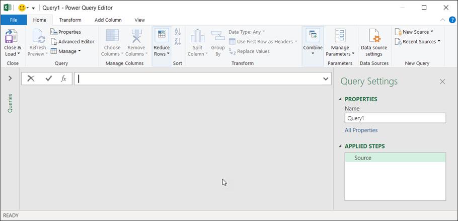 Trình soạn thảo truy vấn trong Excel 365
