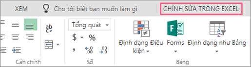 Nút Mở trong Excel