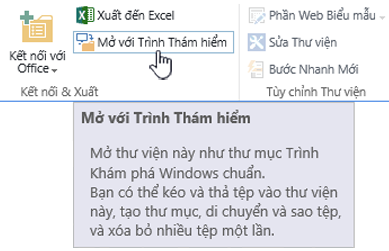 SharePoint 2016 mở bằng Explorer trong IE11