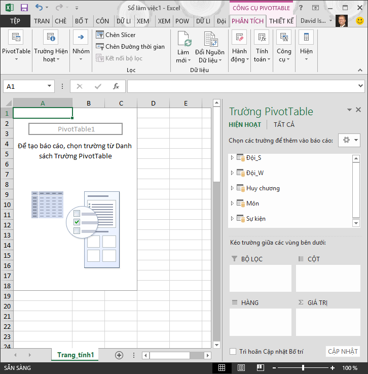 Pivot Table Trống