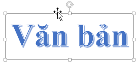 WordArt với con trỏ dạng mũi tên bốn đầu