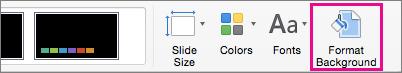 Định dạng Nền trên tab Thiết kế