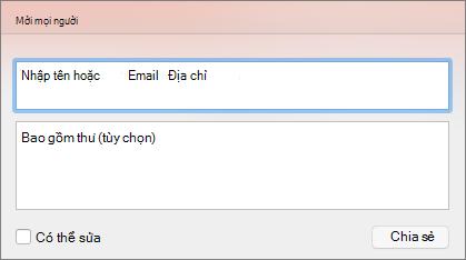 Lời mời Chia sẻ trong PPT cho Mac