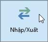 Ảnh chụp màn hình nút Nhập/Xuất trong Outlook 2016
