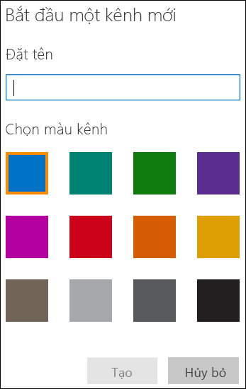Tạo Kênh trong Office 365 Video