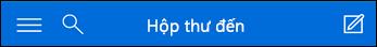 Mục dẫn hướng trên cùng của Outlook Web App mini