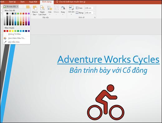 Sử dụng công cụ Tô màu Đồ họa để thay đổi màu của hình ảnh SVG