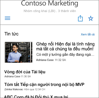 Tin tức Nhóm trên Ảnh chụp màn hình của Site