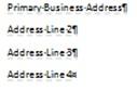 Xem các trường trong ấn phẩm Publisher 2010
