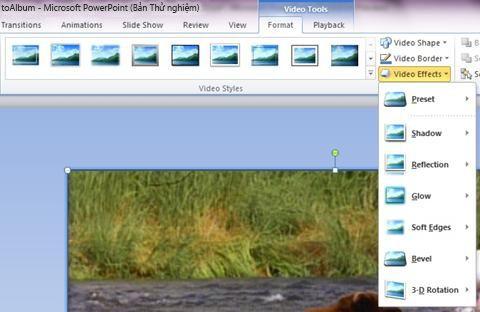 Áp dụng hiệu ứng đặc biệt cho video