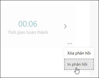 Tùy chọn in phản hồi trong các biểu mẫu Microsoft