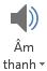 Nút âm thanh, trên tab bản ghi trong PowerPoint