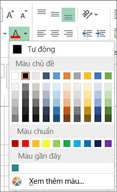 Trình chọn màu phông