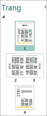 Ngăn dẫn hướng trang hiện cả trang đơn và bố trí nội dung trải trên hai trang.