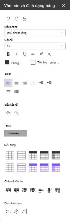 Ngăn văn bản web phần định dạng