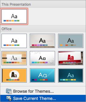 Hiển thị tùy chọn Lưu Chủ đề Hiện tại trên menu Xem thêm