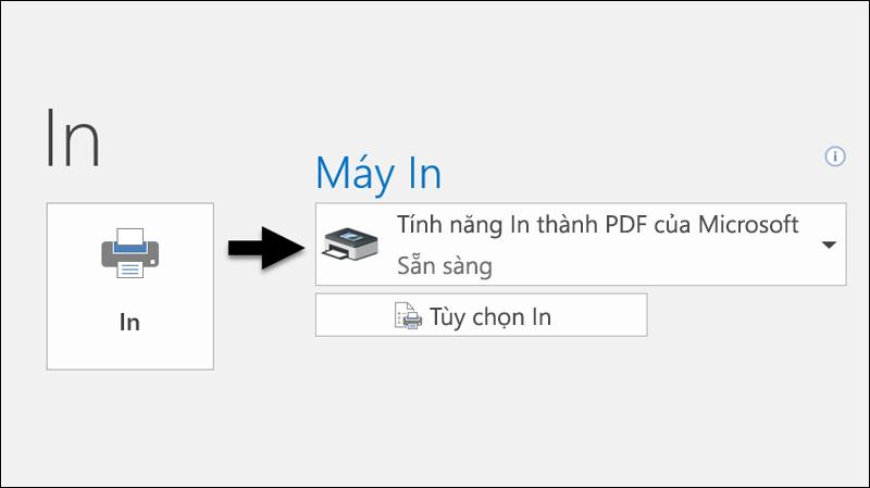 Sử dụng lệnh In để in email thành tệp PDF.