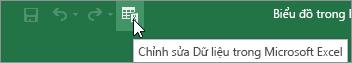 Sửa dữ liệu trong Microsoft Excel biểu tượng trên thanh công cụ truy nhập nhanh