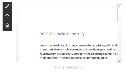 Phần web trình xem tệp trong site đích của doanh nghiệp hiện đại mẫu trong SharePoint Online