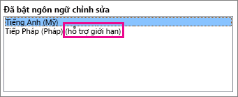 Ngôn ngữ soạn thảo có hỗ trợ hạn chế