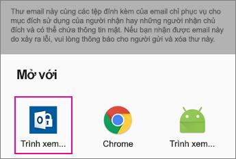 Trình xem OME với Gmail trên Android 2