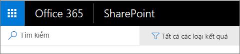Thanh tìm kiếm trong SharePoint Online