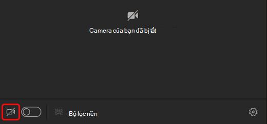 Chọn biểu tượng camera để bật camera