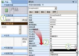 在分组报表中添加分页符
