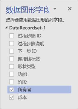"""使用""""数据图形""""窗格对 Visio 数据可视化工具图表应用数据图形"""
