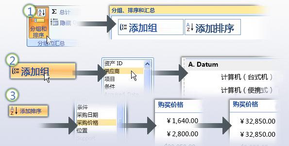 对报表中的数据进行分组和排序