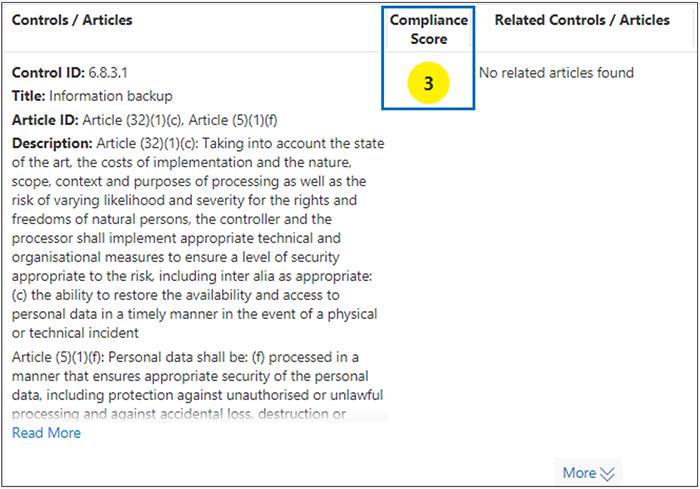 合规性管理器 - 评估低严重性的控制措施 - 分数 3