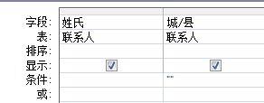 其条件设置为显示具有空白值字段的记录的查询设计器