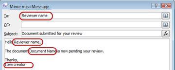 电子邮件,突出显示插入查找的潜在区域