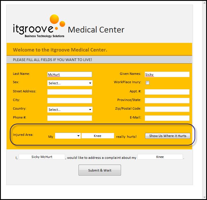 IT Groove 医疗中心 - 受伤区域