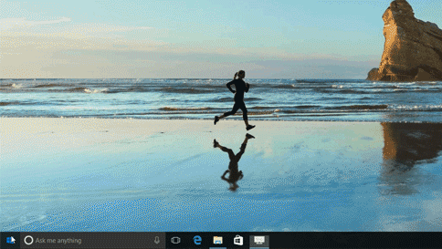 Animated GIF image showing alphanumeric sorting in the Start menu