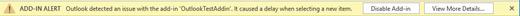 """您可以从 """"信息栏"""" 中禁用该加载项。"""
