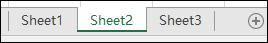 Excel 工作表标签图像