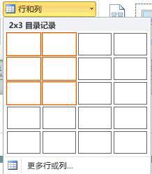 目录页版式行和列