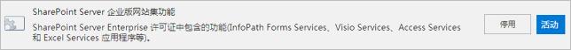 激活 SharePoint Server 企业版网站集功能