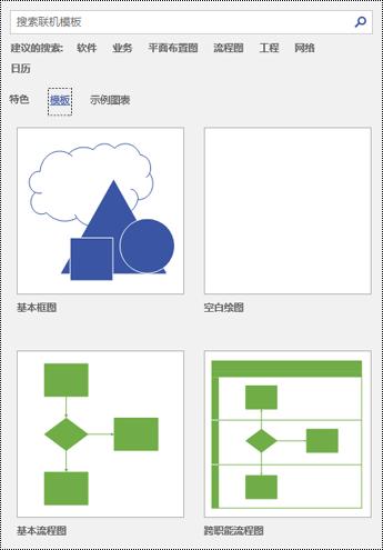 Visio 中的模板页视图